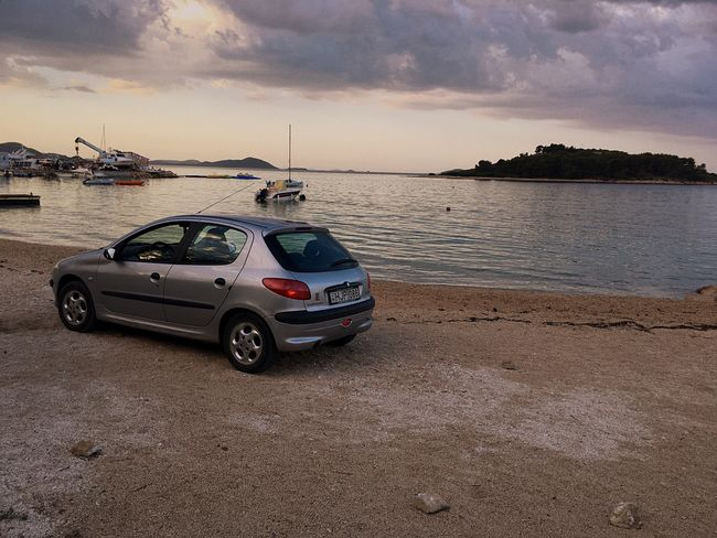 Badqualityrecords Car Transportation Beach Cloud - Sky Sea Sky Water Sunset No People Horizon Over Water Travel Destinations Beauty In Nature Croatia Croatia ♡ TheDay Day Boat