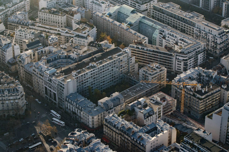 Aerial View Architecture Building Exterior Built Structure City Cityscape Day France High Angle View No People Outdoors Paris Skyscraper Travel Destinations Urban Skyline