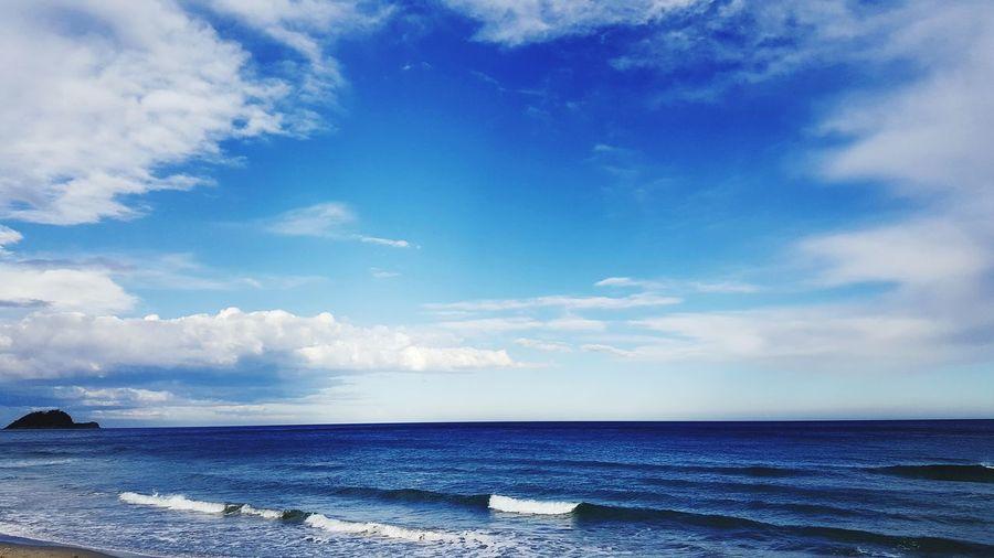 Water Sea Beach Blue Sand Sky Horizon Over Water Cloud - Sky My Best Photo