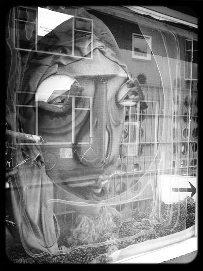 Window Shopping Blackandwhite I See Faces Frame It!