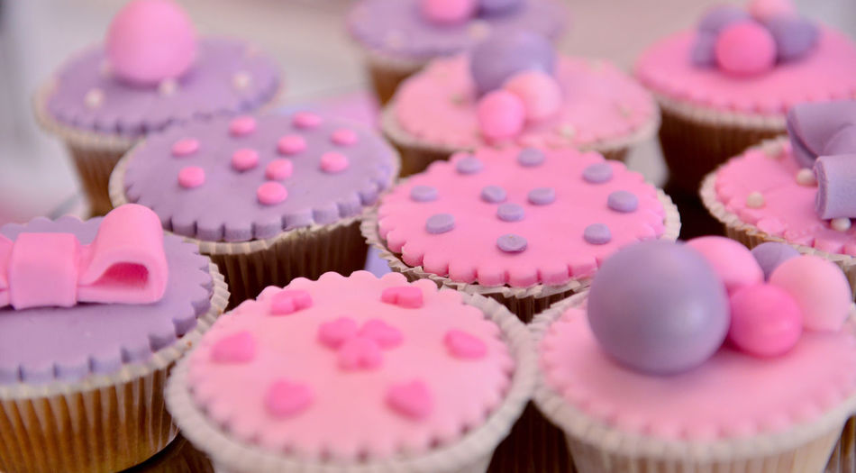 birthday cupcakes Birthday Party Cupcakes Girl Birthday Baby Girl Baked Birthday Bitrhday Girl Cake Candy Cupcake Cupcakes! Food Food And Drink Freshness Indoors  Indulgence Ocassion Pink Color Purple Still Life Sweet Food Sweets Temptation Top View Unhealthy Eating