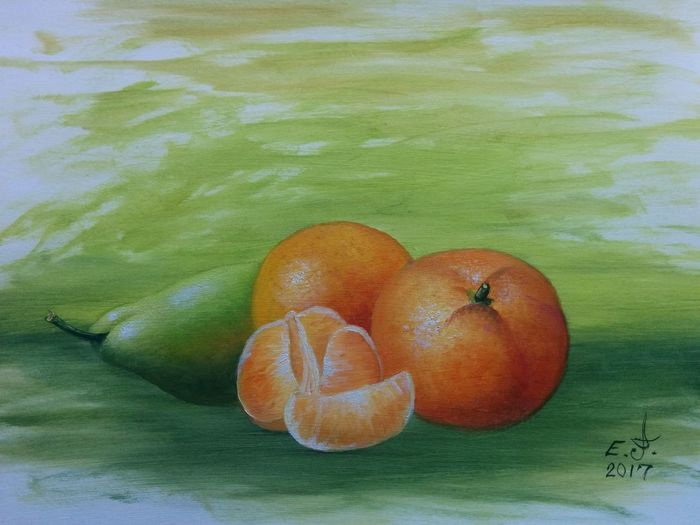 """For all of you fruit lovers,oil on canvas 14""""_20"""". Fruit Freshness My Still Life Collection Fine Art Drawing Original Art Fredom ArtWork With3XSPUnity My Best Friends ❤ Oil Painting Art, Drawing, Creativity My Art Collection Fruit Art Friendship. ♡   Love♥ Koi. With"""