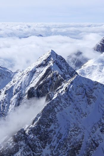 View from the top of marmolada