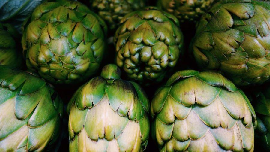 Full frame shot of artichoke at market