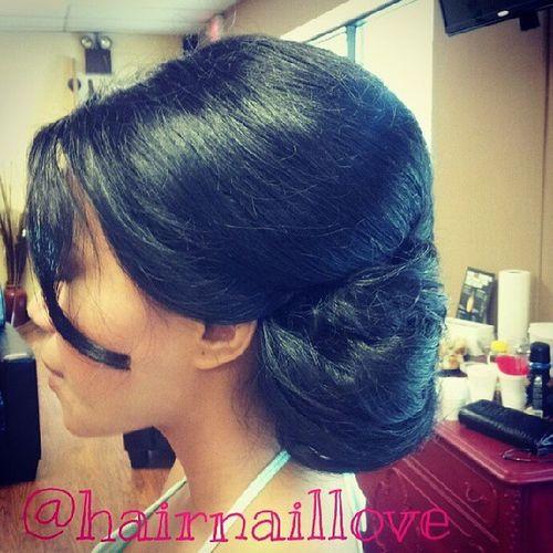 Bridal Hair Updo Sidebun volumesummerweddingJulybride