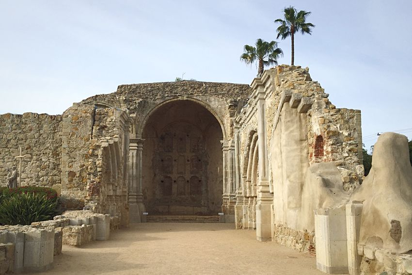 The ruins of Mission San Juan Capistrano, circa 1776. It was partially destroyed in an earthquake in the year 1800. San Juan Capistrano Open Edit