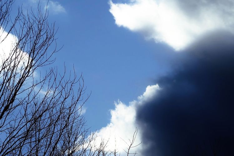 Blue sky and