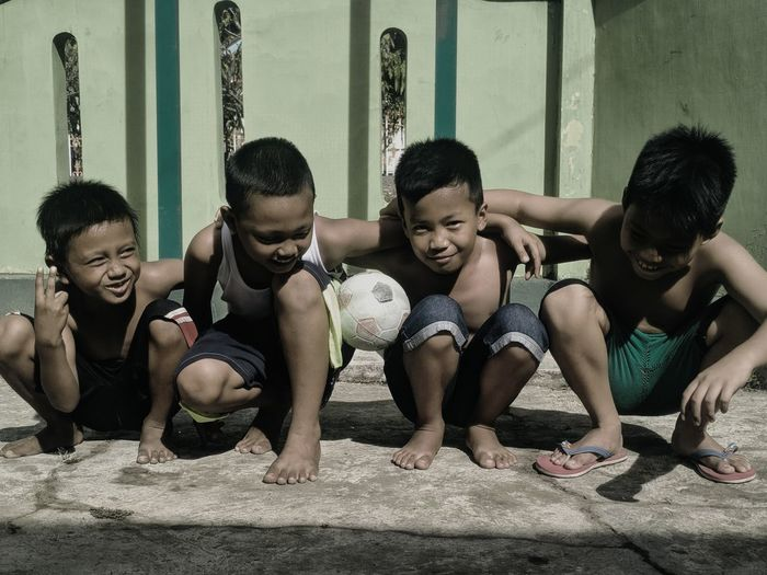 kids street football club Love The Game Friendship Men Young Women Togetherness City Shirtless Strength Training Friend Exercise Equipment Body Building Gym Flexing Muscles Human Muscle Cross Training Bicep Sportsman Moments Of Happiness