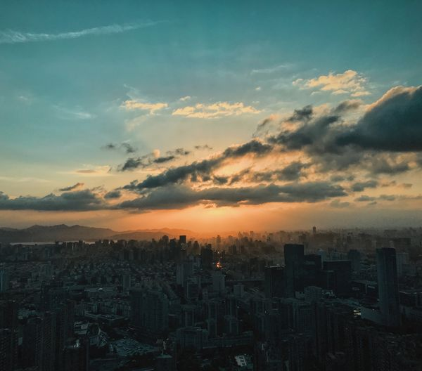 Such a blessing...😭😭😭😭 The Week on EyeEm WeekOnEyeEm Sky Building Exterior Cloud - Sky Built Structure Sunset City Architecture Cityscape Orange Color Skyscraper Urban Skyline Romantic Sky High Angle View Nature