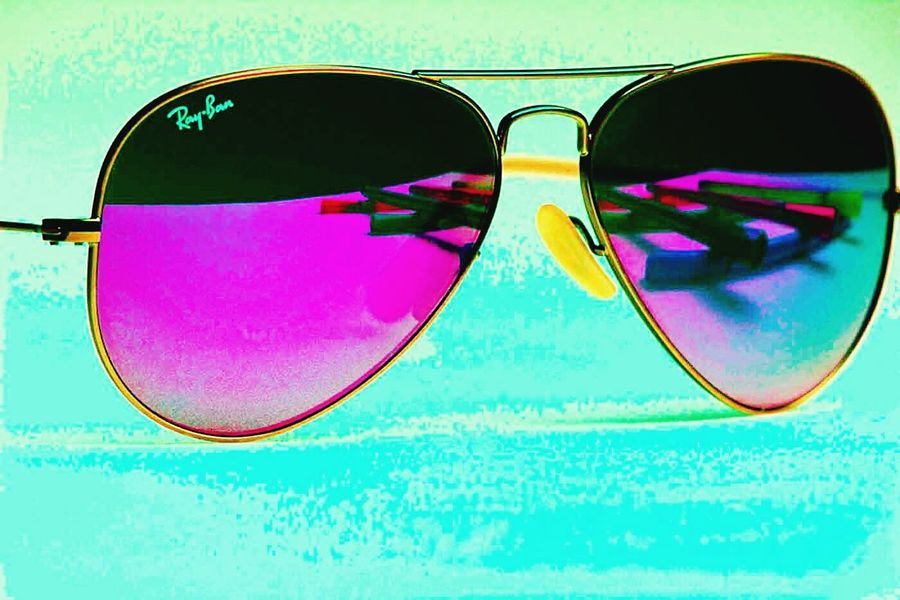 Sunglasses Eyeglasses  Eyewear Eyesight Protective Eyewear Protection Vision Reflection Colored Background No People Summer Glasses Reading Glasses Outdoors Day Popart