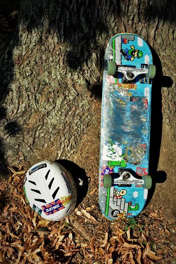 Bark Skateboarding Textured  Tree Tree Bark Backgrounds Close-up Day Full Frame Helmet High Angle View Leaves No People Outdoors Rough Shadow Shadow Of Leaves Trre Trunk