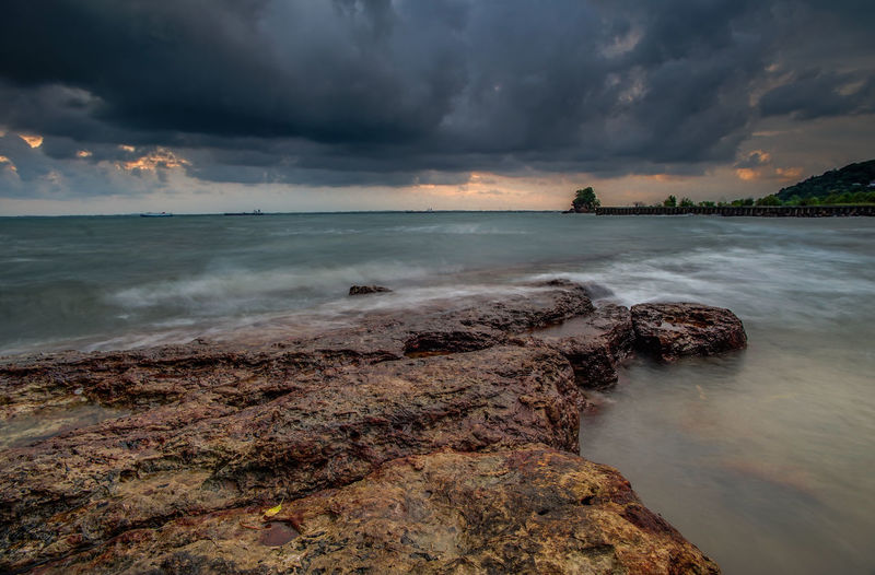 gloomy day Sunset Clouds Skylovers Beach #sunset #rocks #Nature  Long Exposure Sky And Clouds Skyporn Longexposure Water Nautical Vessel Tree Sea Wave Low Tide Sunset Beach Beauty Multi Colored Romantic Sky