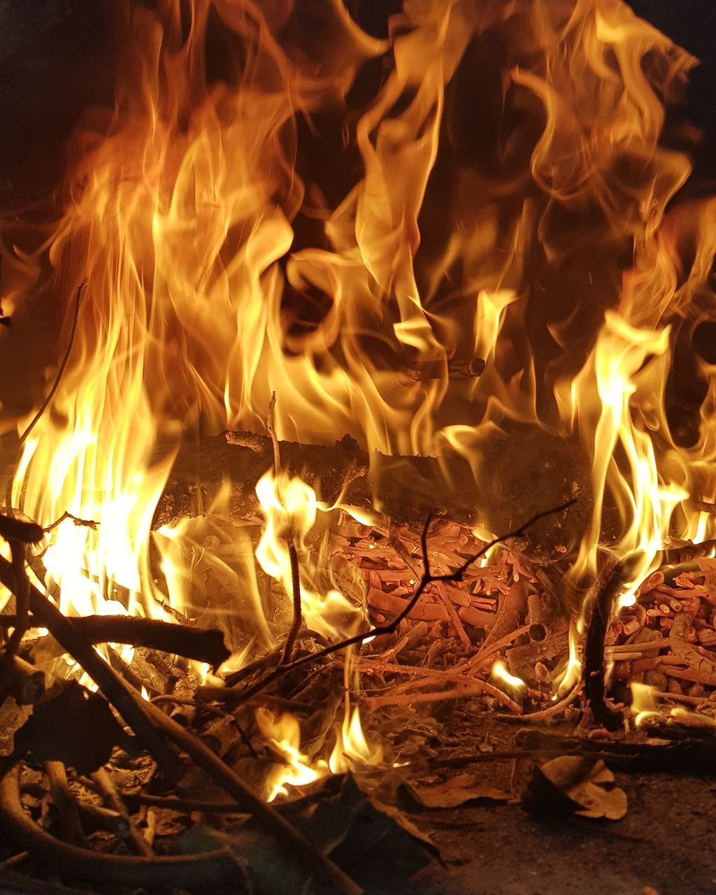 burning, flame, fire, fire - natural phenomenon, heat - temperature, glowing, nature, no people, night, wood - material, wood, motion, log, orange color, firewood, close-up, illuminated, fireplace, environment, bonfire, campfire