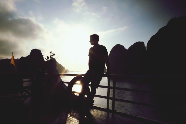 Sky Leisure Activity Men Silhouette Real People Lifestyles Cloud - Sky Outdoors Day Freedom Vietnam Boat Sunrise Vietnamphotography Young Men