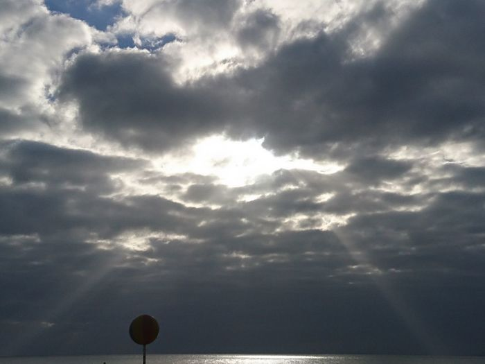 The Sun is trying hard 2 get trough Cloud - Sky