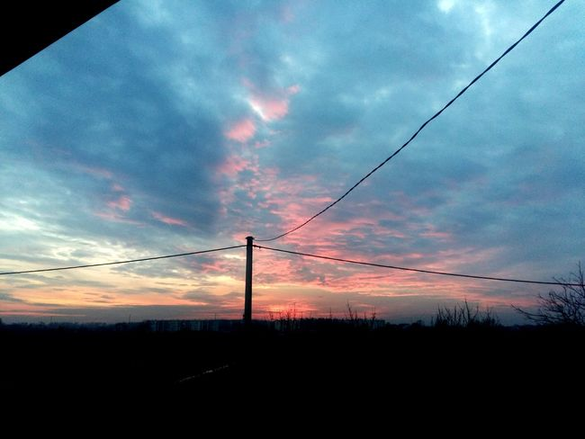 Late Autumn Fall Sunset Sky Slavonski Brod Cloud