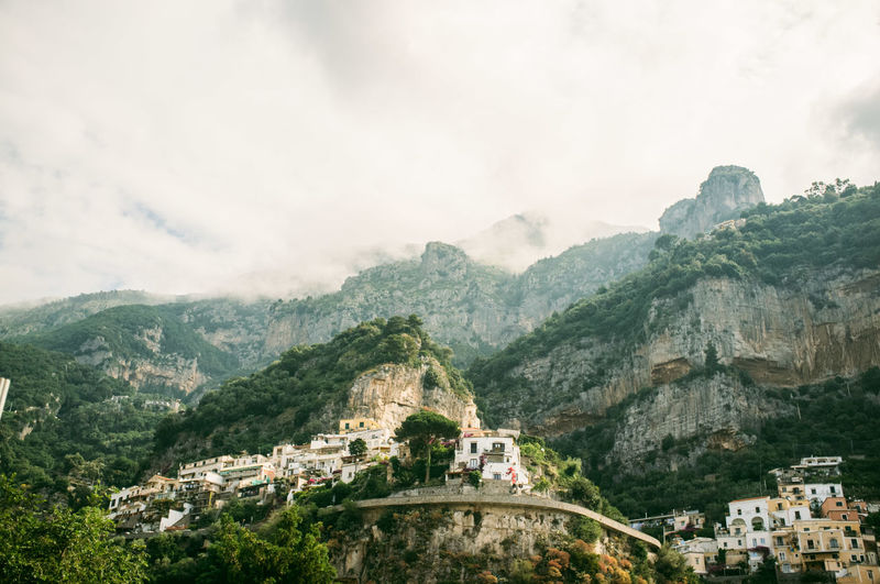 Architecture Beauty In Nature Built Structure Cloud Cloud - Sky Cloudy Day Hill Italy Landscape Mountain Mountain Range Nature Outdoors Positano Positano, Italy Residential Building Residential District Residential Structure Scenics Sky Town TOWNSCAPE Tree Vacation