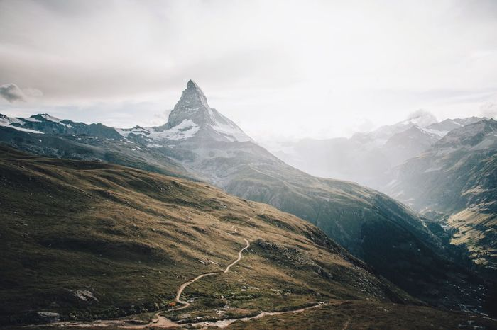 The Matterhorn and epic light Mountain Landscape Beauty In Nature Scenics Mountain Range Sky Outdoors Tranquility Nature No People Day