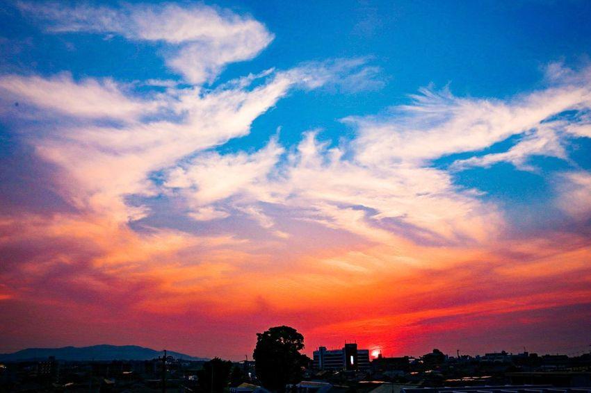 Dramatic Sky Cloud - Sky Sunset City Sky Urban Skyline Beauty In Nature Nature Japan Canon6d
