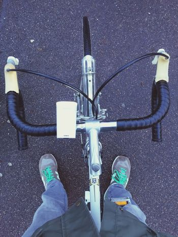 Ready for Cycling with my old Peugeot Racing Bicycle