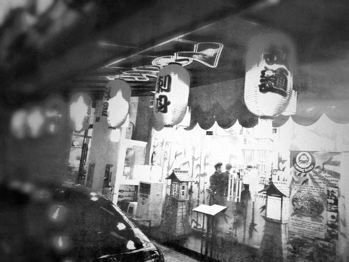 No People Indoors  Hanging Day Close-up The Secret Spaces Lantern Black And White Lanterns In The Dark Blackandwhite Blackandwhite Photography Restaurant Street Photography Lanterns