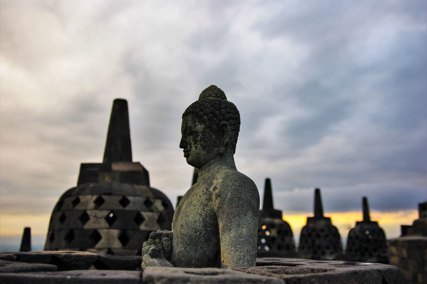 Borobodur ASIA Buddha INDONESIA Impressive Java Mystic Places I've Been Pyramid Spirituality Stupa Travel Photography Traveling Borobodur Buddha Statue Building Historic History Old Old Buildings Pentax Religion Temple Temple - Building Travel Destinations