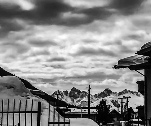 Amazing B&W Beauty In Nature Black And White Blackandwhite Cloud - Sky Sky Nature Architecture Built Structure Boundary Low Angle View Day No People Railing Outdoors Fence Barrier Arts Culture And Entertainment Building Exterior Silhouette Amusement Park Water Amusement Park Ride