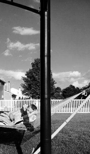 Little Boy Hammock Enjoying Summer Ahhhh Smiling Black And White Portrait Creative Light And Shadow