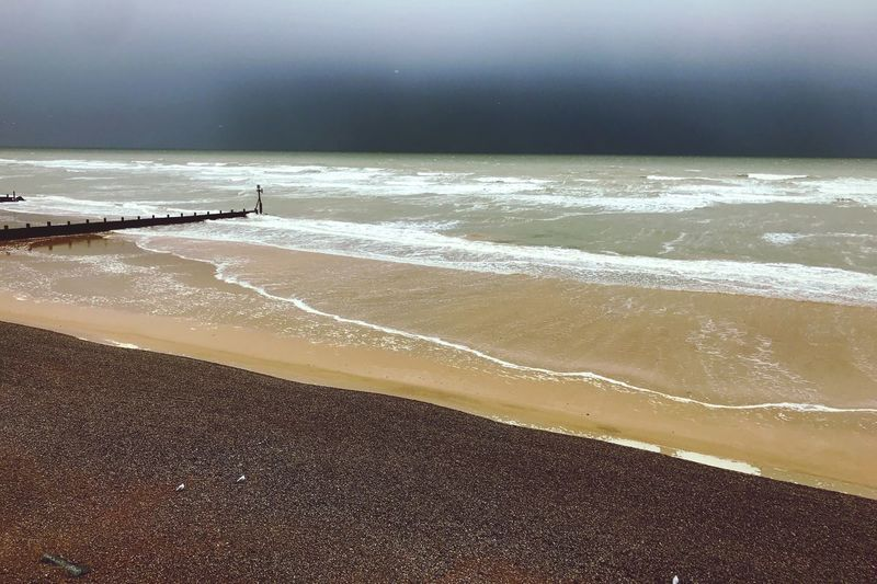 Beach Sea Water Wave Beauty In Nature Horizon Over Water Nature Sand Sky Day Outdoors Horizon Scenics - Nature