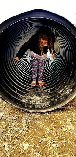 Tunnel Child Childhood Full Length Playing Boys Motion Girls Outdoor Play Equipment Playground