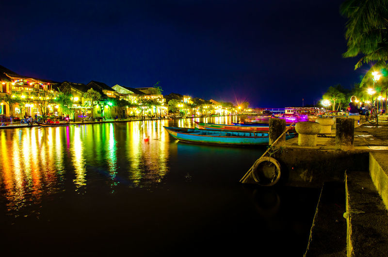 Architecture Building Exterior Built Structure City Illuminated Lighting Equipment Mode Of Transportation Moored Nature Nautical Vessel Night No People Outdoors Reflection River Sky Transportation Water Waterfront