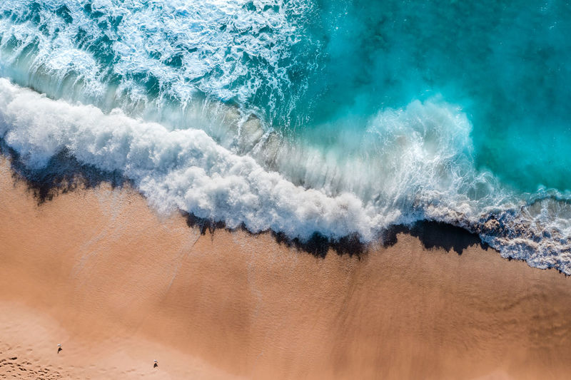 Shore break on a sunny autumn day in Sydney Water Wave Sea Sport Motion Surfing Aquatic Sport Land Beauty In Nature Nature Power In Nature Day Power High Angle View Beach Outdoors Scenics - Nature Breaking Turquoise Colored Shore Orange Color Tranquility Aerial View