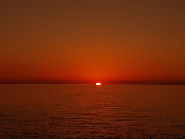Sea Sunset Horizon Over Water Scenics Red Tranquility No People Travel Destinations Beauty In Nature Outdoors Tourism Landscape Nature Water Horizon Nautical Vessel Day Sky Galaxy S8