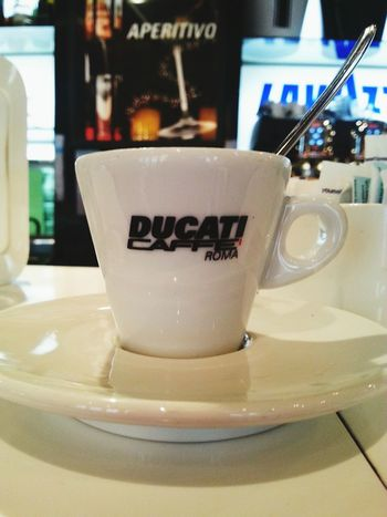 Drink Refreshment Food And Drink Communication Coffee Cup Western Script Coffee - Drink Table Text Indoors  Close-up Freshness Focus On Foreground Ducati, caffè
