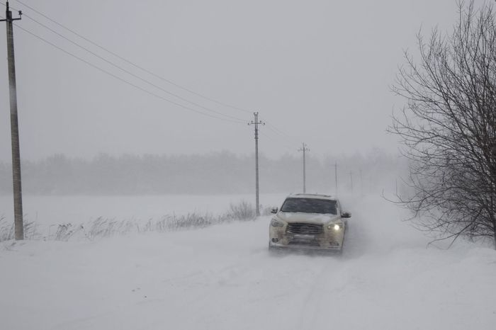 Snowfall of the century Snowfall Of The Century Winter_collection Road Driving Through Snow Cold Weather Winter Snow Cold Temperature Weather Transportation Cable Mode Of Transport Field Outdoors Bare Tree Land Vehicle Snowing Nature Electricity Pylon