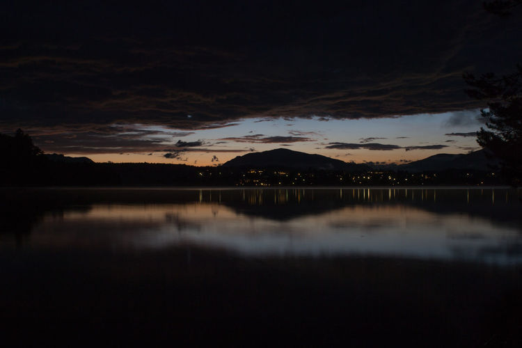 Focus On The Good. Beauty In Nature Cloud - Sky Lake Long Exposure Mountain Nature Night No People Outdoors Reflection Silhouette Sky Sommergefühle Sunset Tree Water The Week On EyeEm