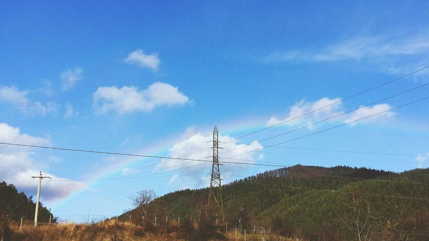 Cable Sky Electricity  Power Line  Low Angle View Power Supply No People Day Outdoors Flock Of Birds Flying Blue Electricity Pylon Bird Nature Fuel And Power Generation Telephone Line Large Group Of Animals Technology Animal Themes Rinbow Love Happiness Front View Arm Around