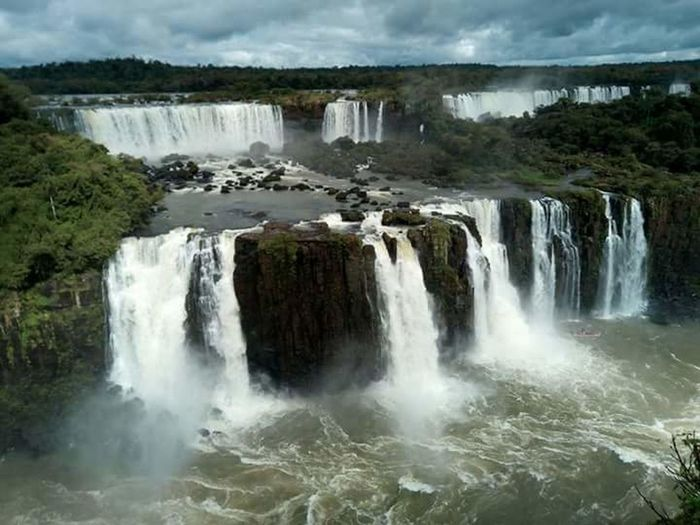 Power In Nature Nature Beauty In Nature Water Waterfall Argentina Photography Argentina Viaggi Viaggio On The Road Ontheroad Nature_collection Scenics Nature Natura Cascate Iguazu 🌈🔆 Iguazu IguazuFalls Iguazu National Park Argentina Pic