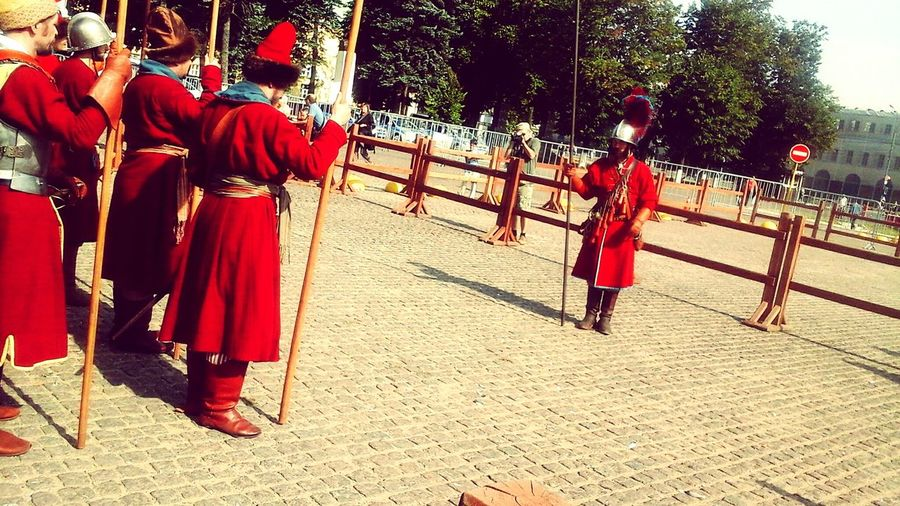 Strelets' Soldiers Uniform Soldierstories Ancient Red Full Length Men Traditional Clothing Place Of Worship
