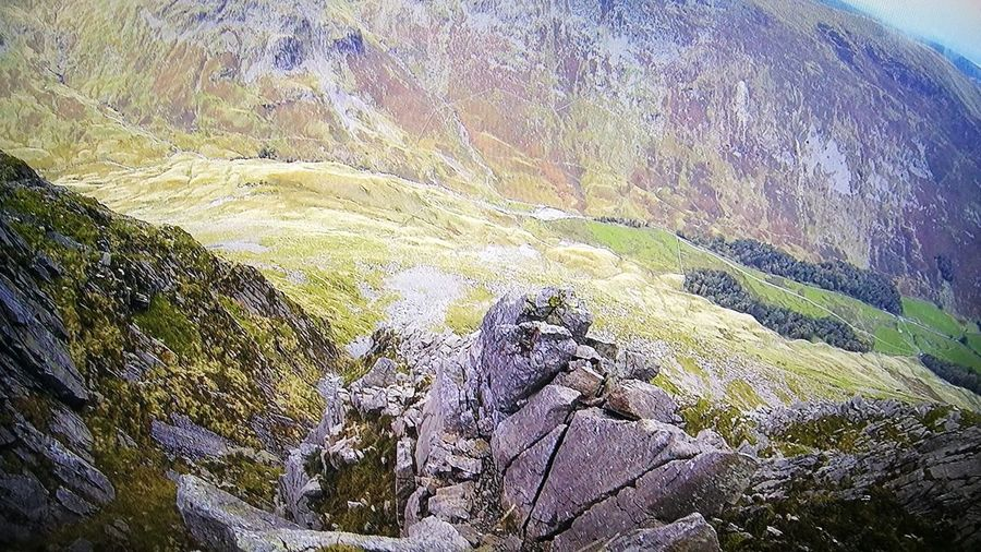 Looking Down View From The Top Of The Pinnacle Pinnacle Ridge St Sunday Crag Lake District No Slipping Here ! Loving The Adventure Go Higher