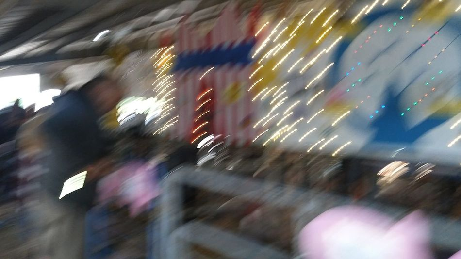 At The Fair All The Neon Lights All In A Blur Blurred Motion Blurry Blurred Dixon May Fair