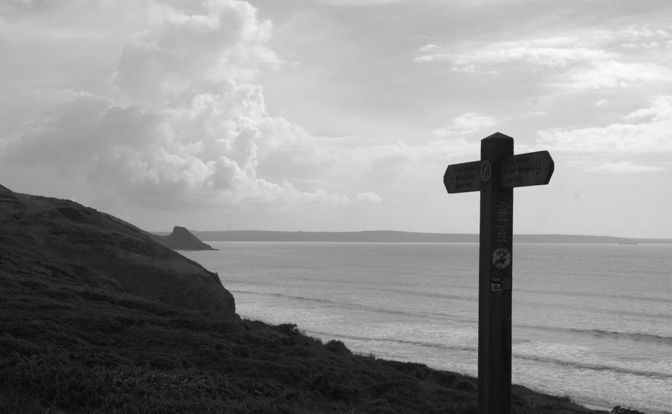 Pembrokeshire Black And White Blackandwhite No People Out For A Walk Outdoors Beauty In Nature Coast Beach Coastpath Pembrokeshire Coast Newgale