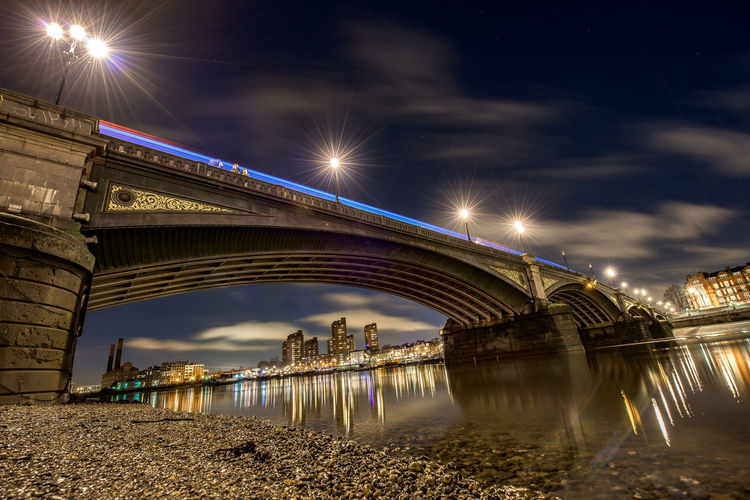 Architecture Battersea Battersea Bridge Bridge Bridge - Man Made Structure Built Structure Chelsea City Cityscape Connection Engineering England Famous Place International Landmark London Long Long Exposure Looking Upo Night Night Photography Ornate Outdoors Outside Railing River River Thames Thames Bank Tourism United Kingdom Water Water Reflections Waterfront Pmg_lon