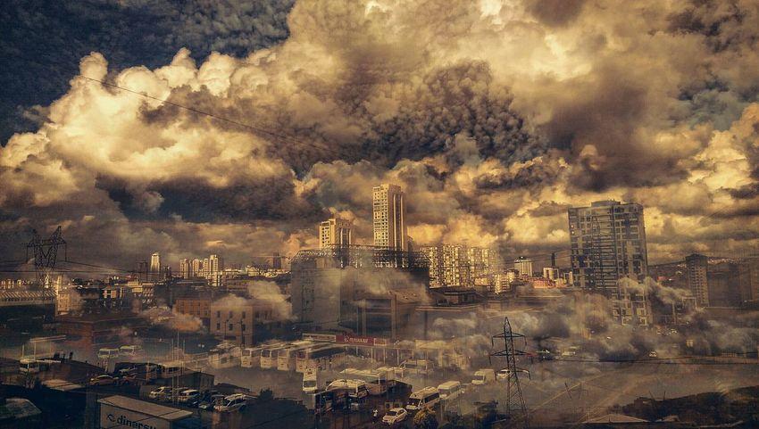 Sehir Istanbuldayasam Istanbul Turkey Istanbullovers Ist_instagram Istanbul City Chaos Kaos Mirrored Bulutlar