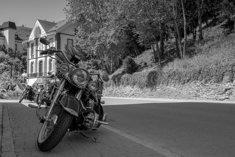 Black & White Black And White Blackandwhite Built Structure Day Mode Of Transport Motorcycle Motorcycles No People Street Transportation Vianden