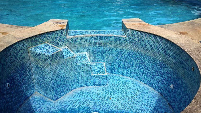 Swimming Pool Close-up Outdoors Blue Detail Geometric Shape Minimalism The Graphic City