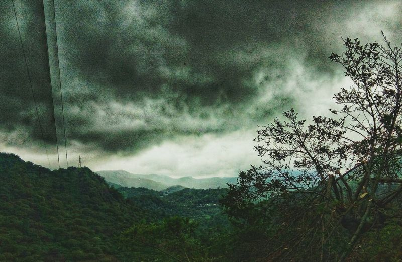Nature Tree Dramatic Sky Sky Cloud - Sky Beauty In Nature Storm Cloud Outdoors No People Night Scenics Mountain Power In Nature Wind Landscape Landscape_photography Nature Photography in Idukki, Ramakkalmedu