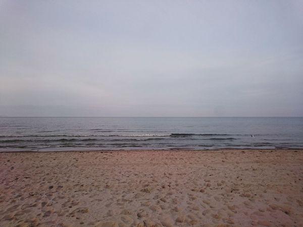 Baltic Sea Beach Grey Pastel Pale Peace
