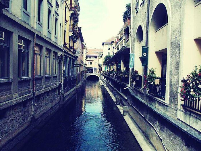 Urban Town Warm Annecy, France Tourism River