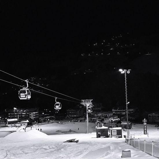 EyeEmNewHere Snow Winter Cold Temperature Transportation Mode Of Transport Car Outdoors City Night Tree Nature Sky No People Skilift Nightpark Hinterglemm